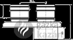 TRICOX PAD 6020 PPS/ALU 80/125 OSZTÓ ADAPT. 2X80