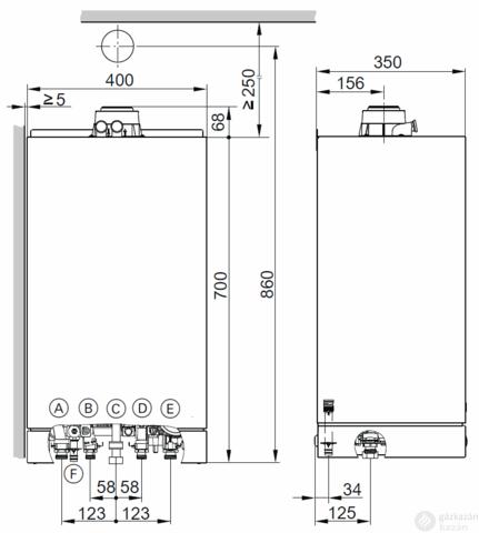 Viessmann Vitodens 100-W 19KW EU ERP Kondenzációs fűtő gázkazán