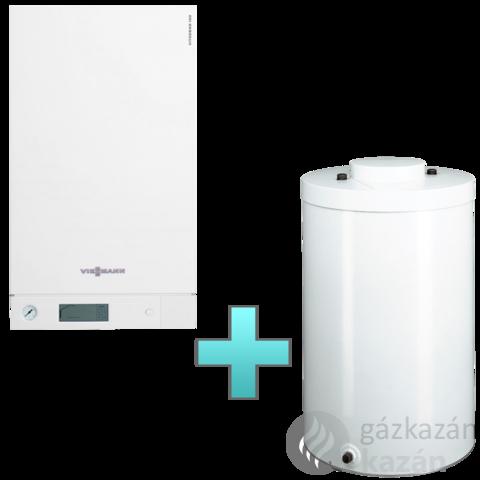 Viessmann Vitodens 100-W Touch 26 kW gázkazán, kondenzációs hőközpont Vitocell 100-W 120 L tárolóval EU-ERP