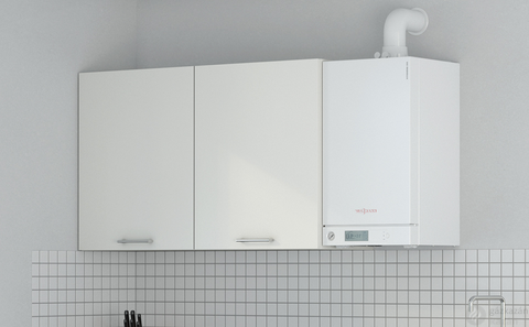 Viessmann Vitodens 100-W Touch 19 kW gázkazán, kondenzációs hőközpont Vitocell 100-W 100 L tárolóval Vitotrol 100 UTDB szobatermosztáttal EU-ERP