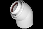 Tricox AAKÖ602C alu/alu 80/125 könyök 45 fok