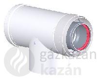 Tricox AAEM60C alu/alu 80/125 ellenörző T-idom mérőponttal