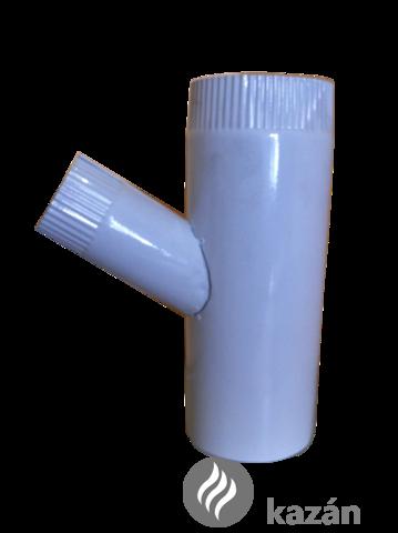 alu füstcső ág 112/76/45 szűkítő ág fehér