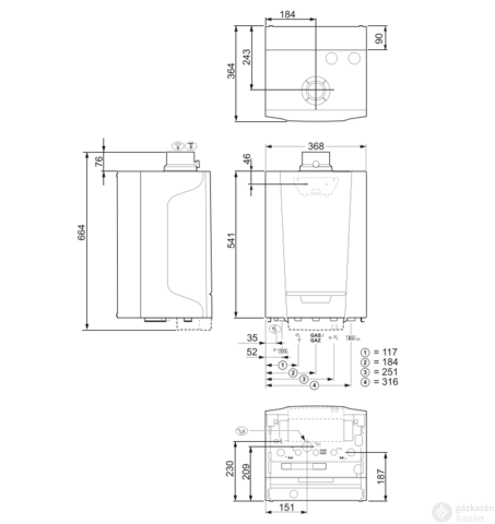 Remeha Tzerra M 28C Plus EU ERP kondenzációs kombi gázkazán fali