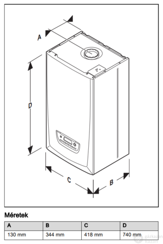 Saunier Duval Thema Condens AS 30-A EU-ERP kondenzációs, fűtő gázkazán