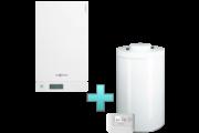 Viessmann Vitodens 100-W Touch 26 kW gázkazán, kondenzációs hőközpont Vitocell 100-W 100 L tárolóval Vitotrol 100 OT1 távszabályozóval EU-ERP