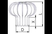 Tricox MR2 inox madárvédő rács 110-120-130mm