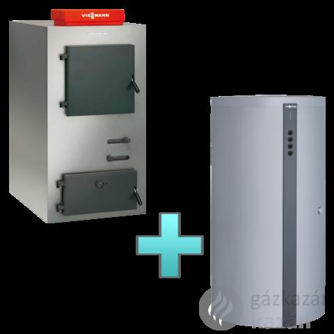 Viessmann Vitoligno 100-S 30 kW faelgázosító kazán + Vitocell 100-E puffertartály