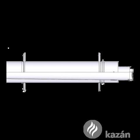 Tricox AAPA50 alu/alu 60/100 parapet 2db takarólemezzel