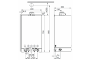 Viessmann Vitodens 100-W Touch 19 kW fűtő kondenzációs gázkazán, H földgázhoz EU-ERP